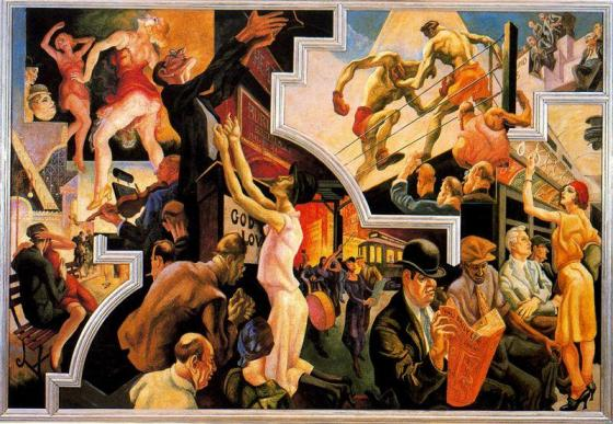 Benton, Thomas Hart (1889-1975)America Today: City Activities with Subway